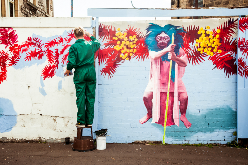 Leith Late Mural Project with Kirsty Whiten